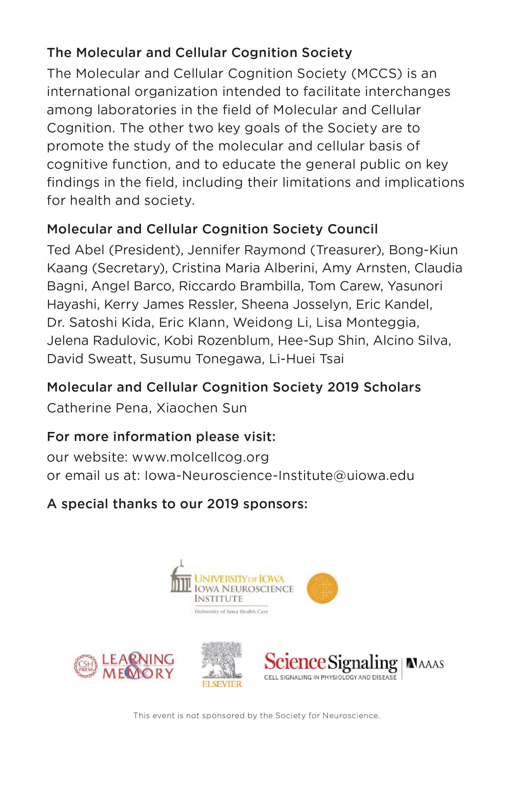 MCCS Chicago 2019 Program, Page 4
